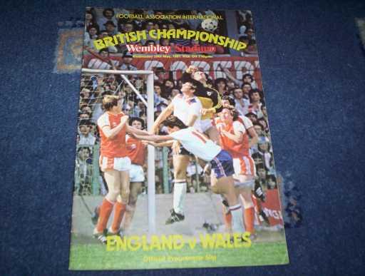 ENGLAND HOMES » 1981 ENGLAND V WALES