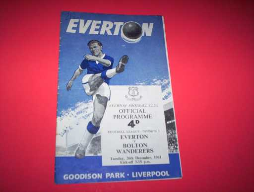 LEAGUE 1960s » 1961/62 EVERTON V BOLTON