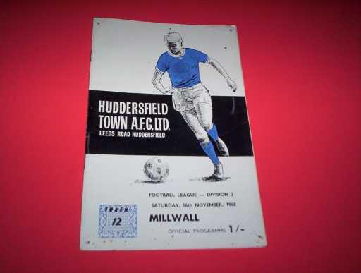 LEAGUE 1960s » 1968/69 HUDDERSFIELD V MILLWALL
