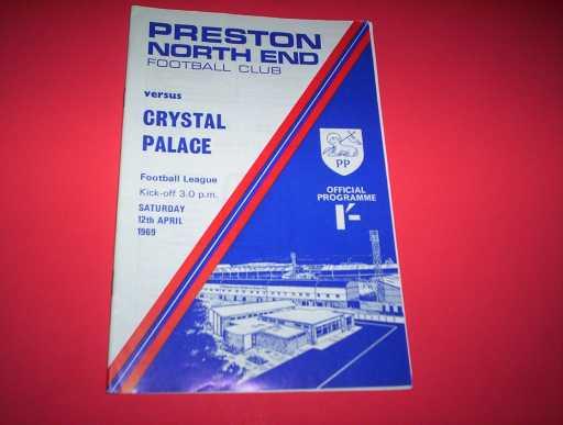 LEAGUE 1960s » 1968/69 PRESTON V CRYSTAL PALACE