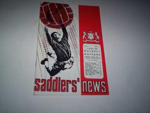 LEAGUE 1960s » 1968/69 WALSALL V WATFORD
