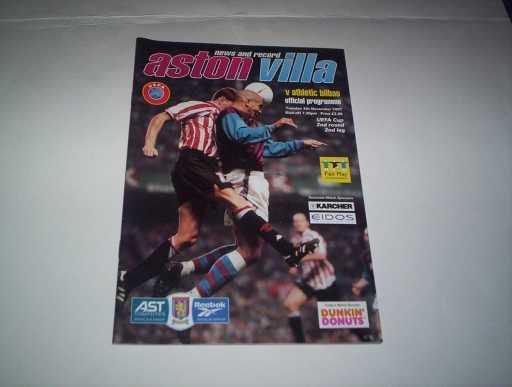 BRITISH CLUBS IN EUROPE » 1997/98 ASTON VILLA V ATHLETIC BILBAO UEFA CUP