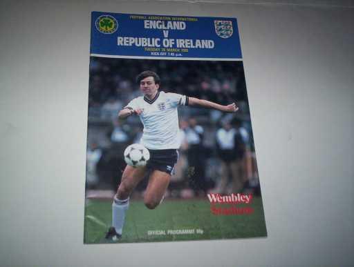 ENGLAND HOMES » 1985 ENGLAND V REPUBLIC OF IRELAND
