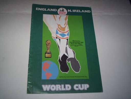 ENGLAND HOMES » 1985 ENGLAND V NORTHERN IRELAND
