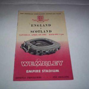 1963 ENGLAND V SCOTLAND