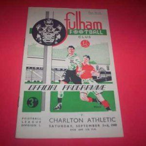 1949/50 FULHAM V CHARLTON