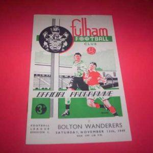 1949/50 FULHAM V BOLTON