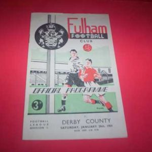 1950/51 FULHAM V DERBY COUNTY