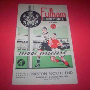 1951/52 FULHAM V PRESTON