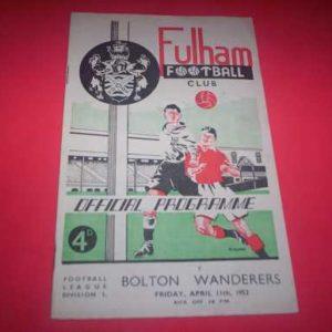 1951/52 FULHAM V BOLTON