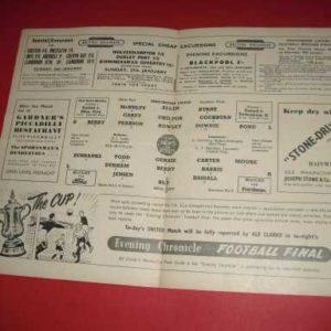 1951/52 MAN UTD V HULL FA CUP