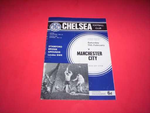LEAGUE 1960s » 1966/67 CHELSEA V MAN CITY
