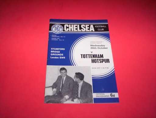 LEAGUE 1960s » 1966/67 CHELSEA V TOTTENHAM