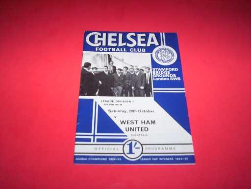 LEAGUE 1960s » 1967/68 CHELSEA V WEST HAM