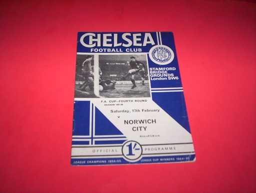 LEAGUE 1960s » 1967/68 CHELSEA V NORWICH FA CUP