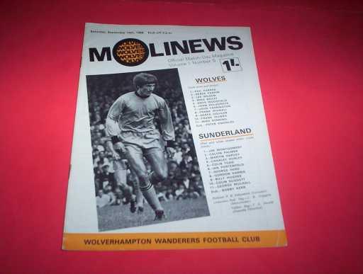 LEAGUE 1960s » 1968/69 WOLVES V SUNDERLAND