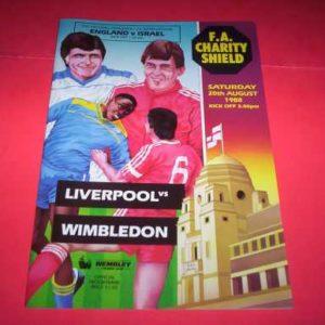 1988 LIVERPOOL V WIMBLEDON CHARITY SHIELD