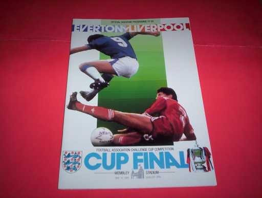 FA CUP FINALS » 1986 EVERTON V LIVERPOOL FA CUP FINAL