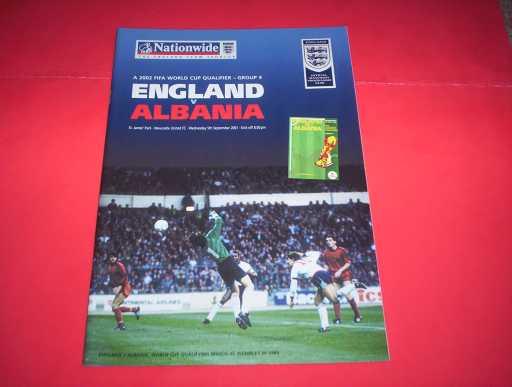 ENGLAND HOMES » 2001 ENGLAND V ALBANIA WORLD CUP