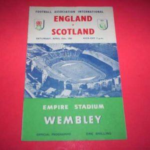 1961 ENGLAND V SCOTLAND