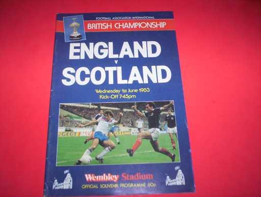 ENGLAND HOMES » 1983 ENGLAND V SCOTLAND