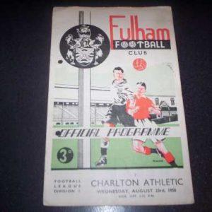 1950/51 FULHAM V CHARLTON