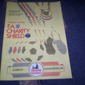 1985 EVERTON V MAN UTD CHARITY SHIELD