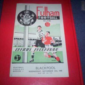 1950/51 FULHAM V BLACKPOOL