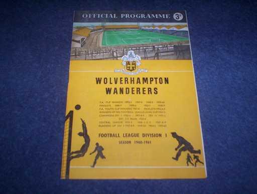 BRITISH CLUBS IN EUROPE » 1960/61 WOLVES V TIFLIS DYNAMO FRIENDLY