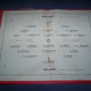 1949 ENGLAND V IRELAND YOUTH @ HULL