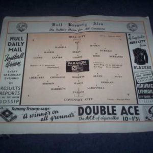 1951/52 HULL V COVENTRY