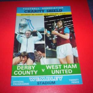 1975 DERBY COUNTY V WEST HAM CHARITY SHIELD