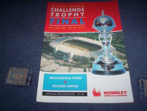 MISC FINALS » 1989 MACCLESFIELD V TELFORD FA TROPHY FINAL