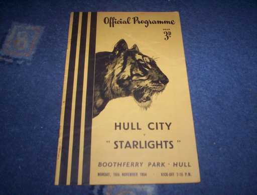 LEAGUE 1950s » 1954/55 HULL V STARLIGHTS