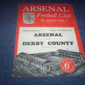 1951/52 ARSENAL V DERBY COUNTY