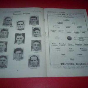 1951/52 CHELSEA V TRANMERE FA CUP