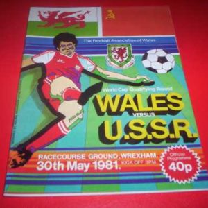 1981 WALES V RUSSIA