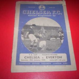 1948/49 CHELSEA V EVERTON FA CUP