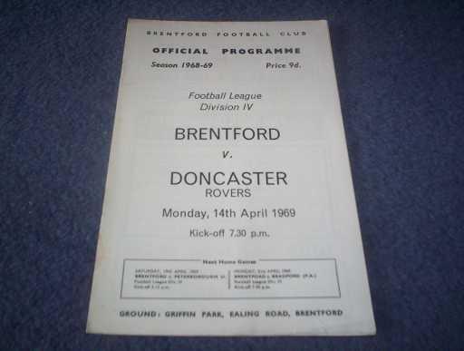 LEAGUE 1960s » 1968/69 BRENTFORD V DONCASTER