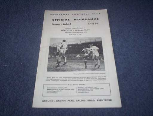 LEAGUE 1960s » 1968/69 BRENTFORD V GRIMSBY
