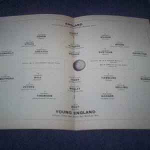 1965 ENGLAND V YOUNG ENGLAND @ ARSENAL
