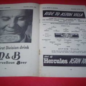 1960/61 ASTON VILLA V WOLVES
