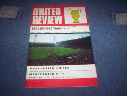 LEAGUE 1960s » 1968/69 MAN UTD V MAN CITY