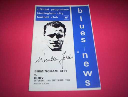 LEAGUE 1960s » 1966/67 BIRMINGHAM V BURY