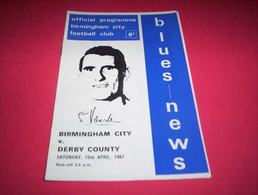 LEAGUE 1960s » 1966/67 BIRMINGHAM V DERBY COUNTY
