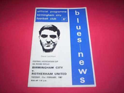LEAGUE 1960s » 1966/67 BIRMINGHAM V ROTHERHAM FA CUP REP