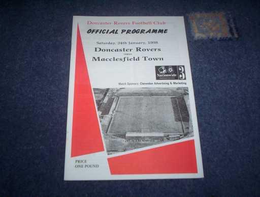 LEAGUE 1990s » 1997/98 DONCASTER V MACCLESFIELD
