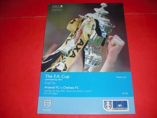FA CUP FINALS » 2002 ARSENAL V CHELSEA FA CUP FINAL