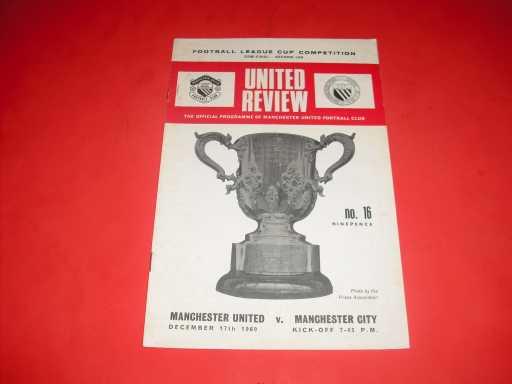 LEAGUE CUP SEMI FINALS » 1969/70 MAN UTD V MAN CITY LEAGUE CUP S/F