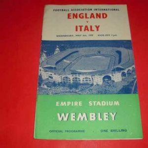 1959 ENGLAND V ITALY